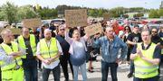 Medlemmar i Bensinupproret 2.0 samlades i Barkarby. Fredrik Sandberg/TT / TT NYHETSBYRÅN