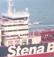 Fartyget Stena Impero beslagtogs i Hormuzsundet. HO / SEPAH NEWS