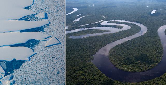 Antarktis och Amazonas påverkar varandra. TT