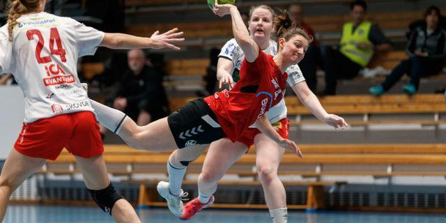 Heids Towe Andersson under en handbollsmatch i SHE mellan Heid och Skövde den 13 mars 2020 i Göteborg. MICHAEL ERICHSEN / BILDBYRÅN