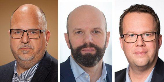 Karl-Petter Thorwaldsson, Mattias Dahl och Martin Linder.