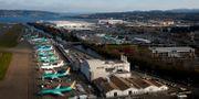 Parkerade flygplan vid Boeings fabrik i Renton, Washington. Lindsey Wasson / TT NYHETSBYRÅN