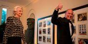 Larry Kudlow med frun Judith. Arkivbild. ALASTAIR PIKE / AFP