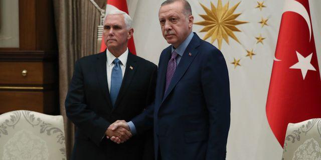 Mike Pence och Recep Tayyip Erdogan TT NYHETSBYRÅN