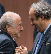 Blatter och Platini.  Patrick B. Kraemer / TT NYHETSBYRÅN