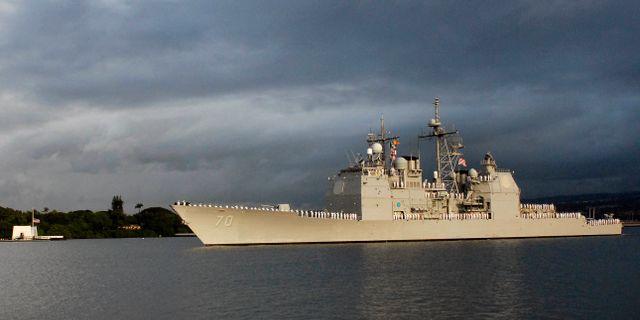 USS Lake Erie Ronen Zilberman / TT NYHETSBYRÅN