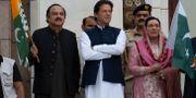 Pakistans premiärminister Imran Khan under ett torgmöte i Islamabad. B.K. Bangash / TT NYHETSBYRÅN