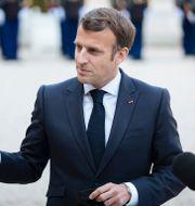 Emmanuel Macron. Lewis Joly / TT NYHETSBYRÅN