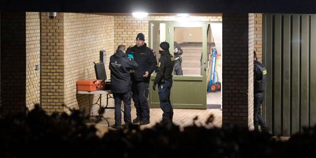 Polisen i Valby idag. NILS MEILVANG / Ritzau Scanpix
