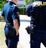 Bild från olycksplatsen. Mikael Fritzon/TT / TT NYHETSBYRÅN