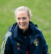 Magdalena Eriksson vid ett av landslagets träningar. Arkivbild.  Björn Larsson Rosvall/TT / TT NYHETSBYRÅN
