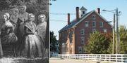 En grupp Shaker-medlemmar/ sektens högkvarter i delstaten Maine. Wikimedia