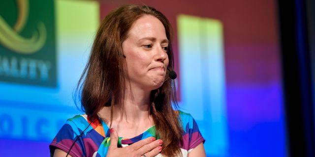 Åsa Lindhagen (MP), jämställdhetsminister. Stina Stjernkvist/TT / TT NYHETSBYRÅN