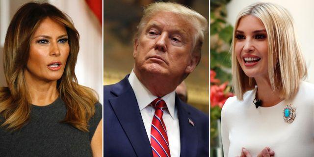 Melania, Donald och Ivanka Trump. TT