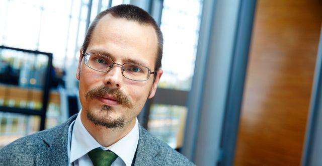 Europaparlamentarikern Max Andersson. FREDRIK PERSSON / TT / TT NYHETSBYRÅN