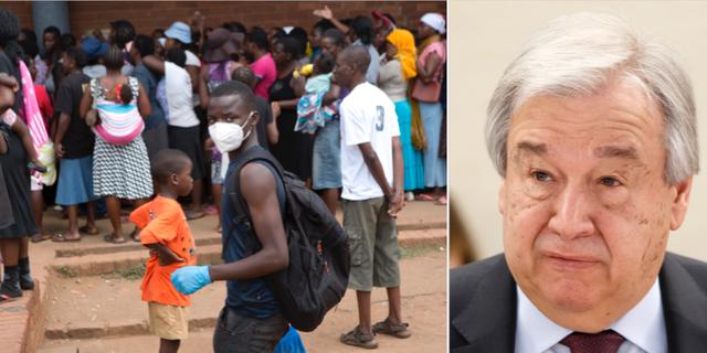 Man i Zimbabwe/António Guterres. TT