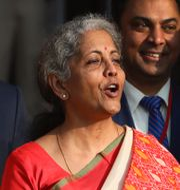 Finansminister Nirmala Sitharaman Manish Swarup / TT NYHETSBYRÅN