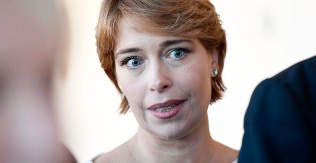 Annika Strandhäll (S) efter statsministeromröstning i riksdagen. Stina Stjernkvist/TT / TT NYHETSBYRÅN