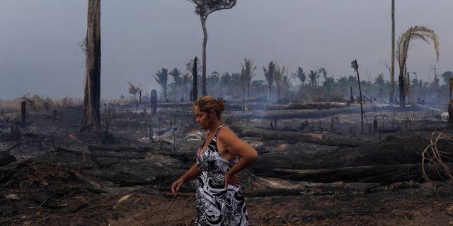 Eliane Muller, 54, i närheten av sin plantage i Rio Pardo. RICARDO MORAES / TT NYHETSBYRÅN