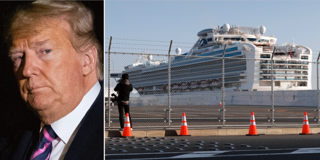 Donald Trump/Fartyget Diamond Princess. TT