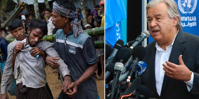 Medlemmar ur rohingya-folket som flytt Burma/António Guterres TT