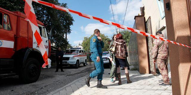 Explosionen inträffade nära det lokala kommunistpartiets lokal. Alexander Yermochenko / TT NYHETSBYRÅN/ NTB Scanpix
