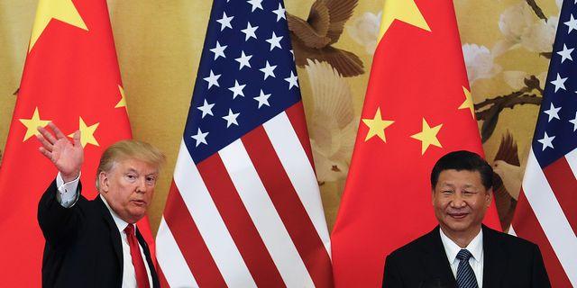Trump och Xi. Arkivbild. TT