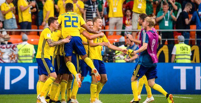 Sverige under fotbolls-VM i Ryssland.  PETTER ARVIDSON / BILDBYR N