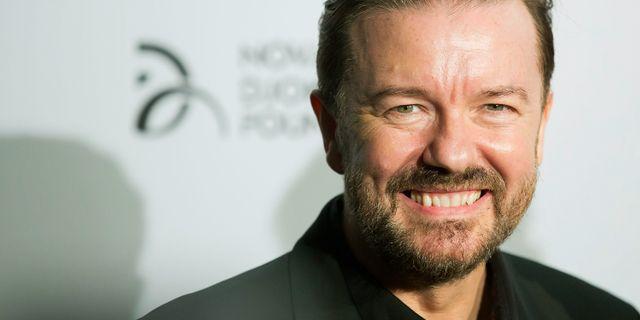 Ricky Gervais. Ben Hider / TT / NTB Scanpix