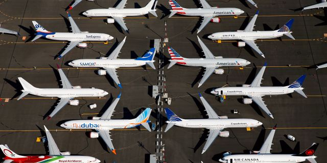 737 Max-plan sedda från ovan. Lindsey Wasson / TT NYHETSBYRÅN