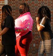 Unga människor i Georgia som röstade i presidentvalet Joshua L. Jones / TT NYHETSBYRÅN