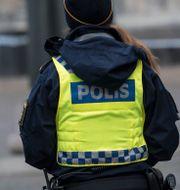 Illustrationsbild. Polis. Johan Nilsson/TT / TT NYHETSBYRÅN