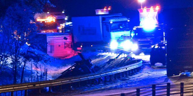 Olyckan inträffade på E4 mellan Nyköping och Tystberga. Pontus Stenberg/TT / TT NYHETSBYRÅN
