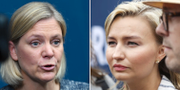 Magdalena Andersson(S) och Ebba Busch Thor (KD) TT