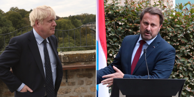 Boris Johnson och Xavier Bettel.  TT