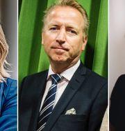 Frida Bratt, Jonas Olavi och Johanna Kull. TT