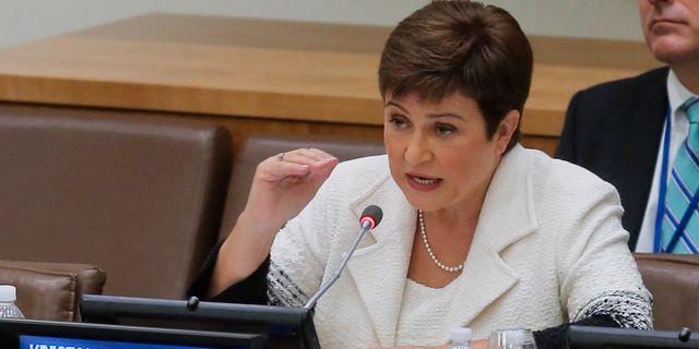 Världsbankens chef Kristalina Georgieva.  Bebeto Matthews / TT NYHETSBYRÅN/ NTB Scanpix
