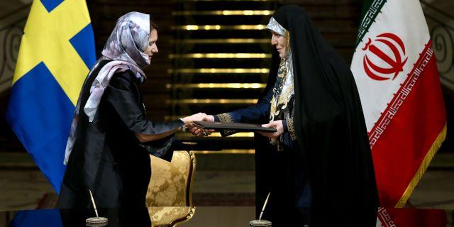Utrikesminister Ann Linde (S) på statsbesök i Teheran 2017 – då som handelsminister. Ebrahim Noroozi / TT NYHETSBYRÅN