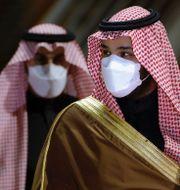 Joe Biden och kronprins  Mohammed bin Salman. TT