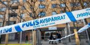 Polisavspärrningar vid brottsplatsen i Sätra i april 2019.  Henrik Montgomery/TT / TT NYHETSBYRÅN