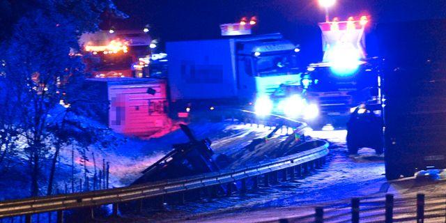 Olyckor på E4 mellan Nyköping och Tystberga. Pontus Stenberg/TT / TT NYHETSBYRÅN