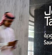 Man på väg in på saudiska börsen Tadawul. Arkivbild. FAYEZ NURELDINE / TT NYHETSBYRÅN