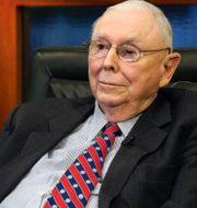Charlie Munger, vice styrelseordförande i investmentbolag Berkshire Hathaway. Shutterstock/TT