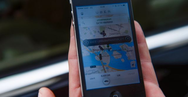 Arkivbild: Ubers app. FANNI OLIN DAHL / TT / TT NYHETSBYRÅN