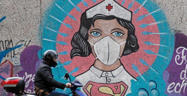 Graffiti i Hamm, Tyskland. Martin Meissner / TT NYHETSBYRÅN