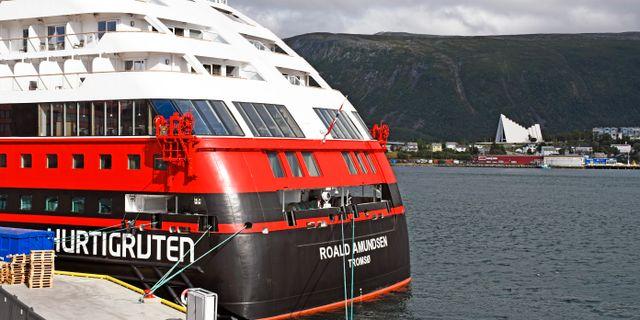 Fartyget efter att det lagt till i Tromsø. Rune Stoltz Bertinussen / TT NYHETSBYRÅN