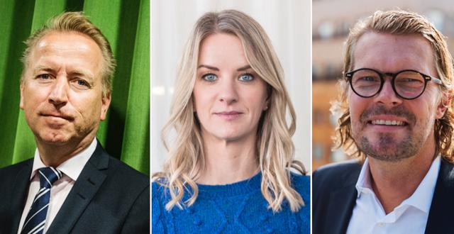 Jonas Olavi, Maria Landeborn och Mattias Isaksson.