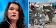 Ann Linde möter sina kollegor i London för att diskutera hur man ska gå efter nedskjutningen och ställa krav på Iran. TT/AP