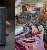 Arkivbilder: Smart högtalare från Amazon. Återvunna plagg på Myrorna. TT