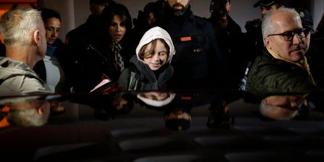 Greta Thunberg kom till Madrid med tåg.  Andrea Comas / TT NYHETSBYRÅN